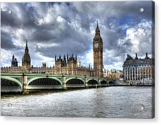 Big Ben And Thames Acrylic Print by Shawn Everhart