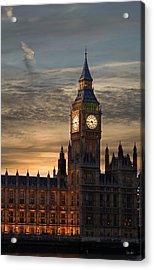 Big Ben At Dusk Acrylic Print by Martin Howard