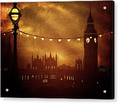 Acrylic Print featuring the digital art Big Ben At Night by Fine Art By Andrew David