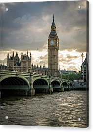 Big Ben At Sunset Acrylic Print