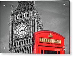 Big Ben Acrylic Print by Delphimages Photo Creations