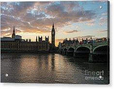 Big Ben London Sunset Acrylic Print by Mike Reid