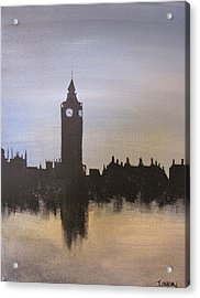 Acrylic Print featuring the painting Big Ben Of London by Gary Smith
