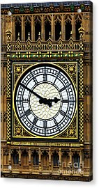 Big Ben Portrait Acrylic Print by James Brunker