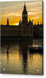 Big Ben Tower Golden Hour In London Acrylic Print