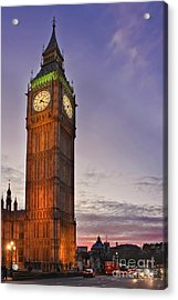 Acrylic Print featuring the photograph Big Ben Twilight In London by Terri Waters