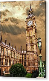 Big Ben's House Acrylic Print by Meirion Matthias