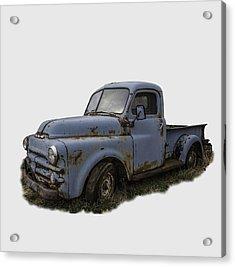 Big Blue Dodge Alone Acrylic Print