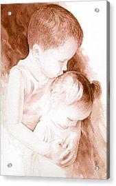 Big Brothers Hug Acrylic Print