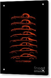 Big Cat Coupe Silhouettehistory Acrylic Print