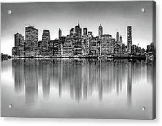 Acrylic Print featuring the photograph Big City Reflections by Az Jackson