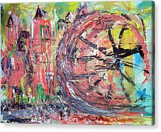 Big City Wheel Vs Little People Acrylic Print by Lynda McDonald