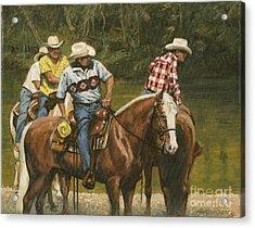 Big Creek - 4 Riders Acrylic Print by Don  Langeneckert