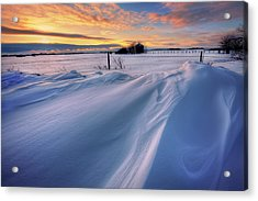 Big Drifts Acrylic Print by Dan Jurak