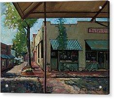 Big Eds Cafe Raleigh Nc Acrylic Print by Doug Strickland