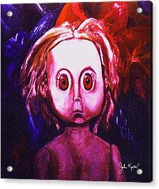 Big Eyed Dolly Acrylic Print by John Keaton