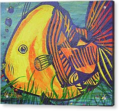 Acrylic Print featuring the painting Big Fish In A Small Pond by Lee Nixon