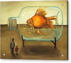 Big Fish Acrylic Print by Leah Saulnier The Painting Maniac