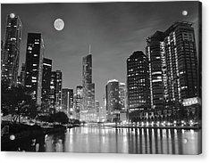 Big Full Chicago Moon  Acrylic Print