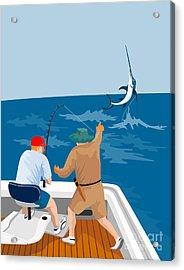Big Game Fishing Blue Marlin Acrylic Print by Aloysius Patrimonio