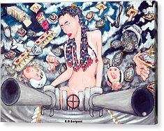 Big Gunz A Blazn Acrylic Print by Eddie Sargent