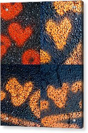 Big Hearts Spray Paint Acrylic Print