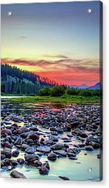 Big Hole River Sunset Acrylic Print