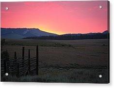Big Horn Sunrise Acrylic Print
