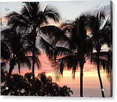 Big Island Sunset 1 Acrylic Print by Karen J Shine