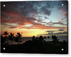 Acrylic Print featuring the photograph Big Island Sunset #2 by Anthony Jones