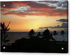 Acrylic Print featuring the photograph Big Island Sunset by Anthony Jones