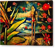 Big Island Surf Acrylic Print by Kimberly Dawn Clayton