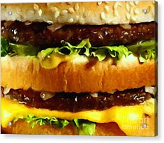 Big Mac - Painterly Acrylic Print by Wingsdomain Art and Photography