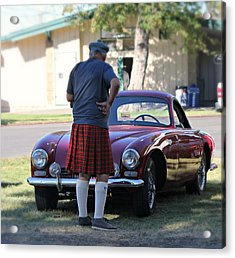 Big Man Little Car Acrylic Print