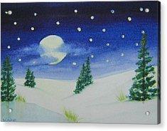 Big Moon Christmas Acrylic Print