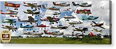 Big Muddy Fly-by Collage Acrylic Print