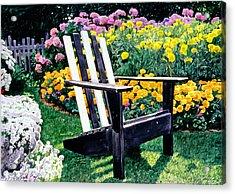 Big Old Chair Evening Light Acrylic Print by David Lloyd Glover