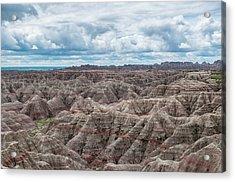 Big Overlook Badlands National Park  Acrylic Print