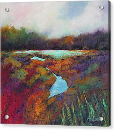 Big Pond In Fall Mc Cormick Woods Acrylic Print by Marti Green