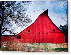 Big Red Barn Acrylic Print