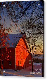 Big Red Barn Acrylic Print by Julie Lueders