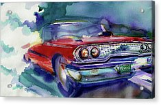 Big Red Acrylic Print by Evelyn Sprouse Rowe