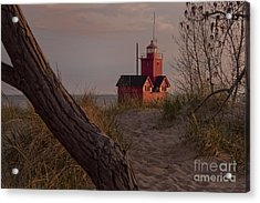 Big Red Lighthouse Visit Www.angeliniphoto.com For More Acrylic Print by Mary Angelini