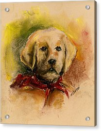 Acrylic Print featuring the painting Big Red by Marilyn Barton
