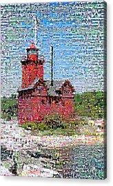 Big Red Photomosaic Acrylic Print