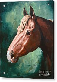 Big Red Snip    Horse Painting Acrylic Print by JoAnne Corpany