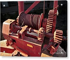 Acrylic Print featuring the photograph Big Red Winch by Stephen Mitchell