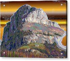 Big Rock Acrylic Print by Wayne Bonney