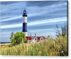 Acrylic Print featuring the painting Big Sable Point by Christopher Arndt