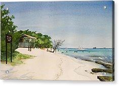 Big Sand At Lime Cay Acrylic Print by Anji Worton